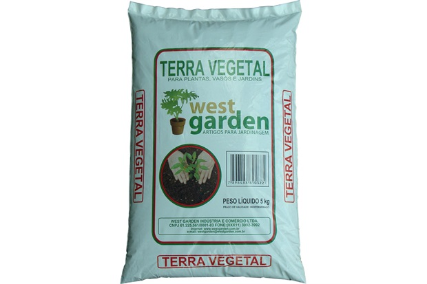 Terra Vegetal Saco com 5kg - West Garden
