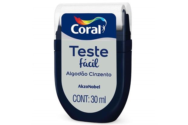 Teste Fácil Algodão Cinzento 30ml - Coral