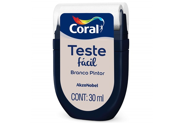 Teste Fácil Branco Pintor 30ml - Coral