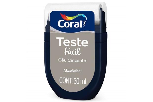 Teste Fácil Céu Cinzento 30ml - Coral