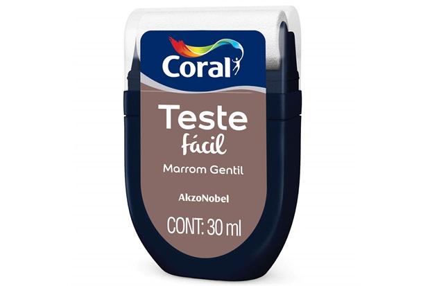 Teste Fácil Marrom Gentil 30ml - Coral