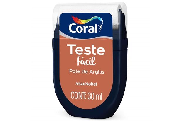 Teste Fácil Pote de Argila 30ml - Coral