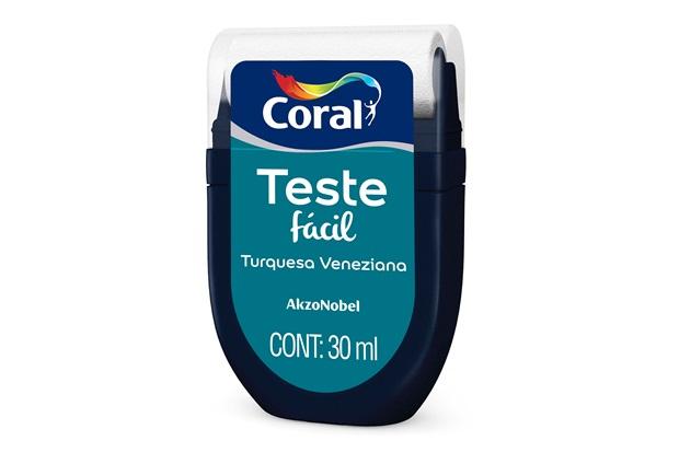 Teste Fácil Turquesa Veneziana 30ml - Coral