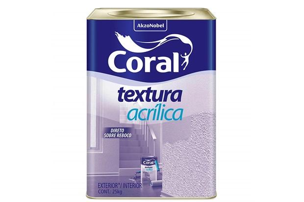 Textura Acrílica para Parede Branca 25kg - Coral