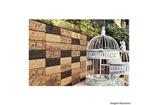 Tijolo Decorativo Ecobrick 8x27,5 Cm Tijolo Envelhecido - Santa Luzia