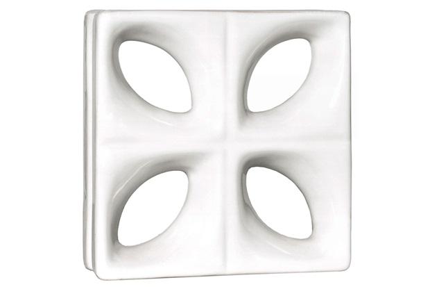 Tijolo Vazado em Cerâmica Cobogó 25x25cm Branco - Cerâmica Martins