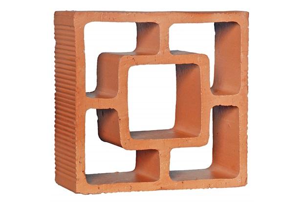 Tijolo Vazado em Cerâmica Cobogó Reto Quadrado 18x18x6,8cm - Cerâmica Martins