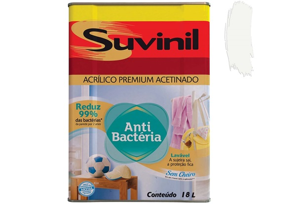 Tinta Acrílica Antibactéria Família Protegida Branca 18 Litros - Suvinil