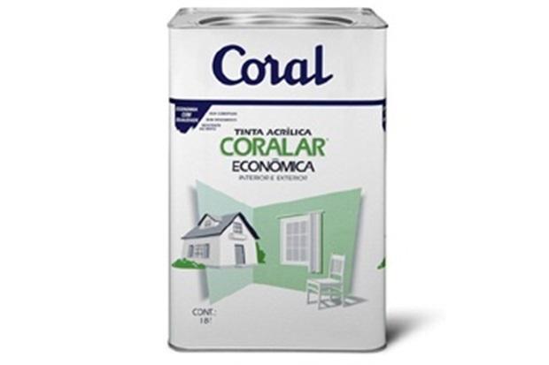 Tinta Acrílica Fosca Coralar 18 Litros - Coral