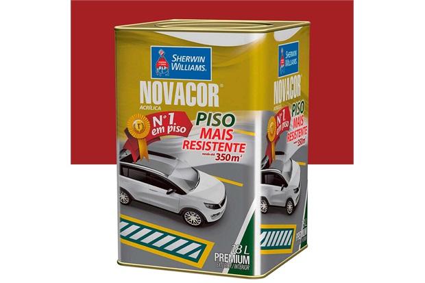 Tinta Acrílica Fosca Novacor Piso Premium Vermelho Segurança 18 Litros - Sherwin Williams
