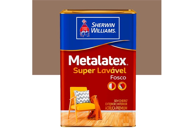 Tinta Acrílica Fosca Premium Metalatex Super Lavável Avelã 18 Litros - Sherwin Williams