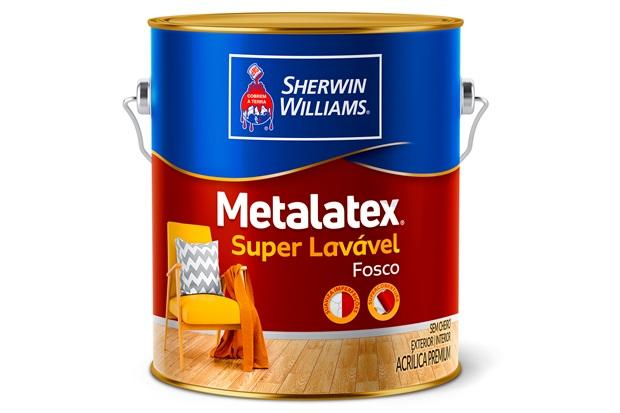 Tinta Acrílica Fosca Premium Metalatex Super Lavável Cinza Urbano 3,6 Litros - Sherwin Williams
