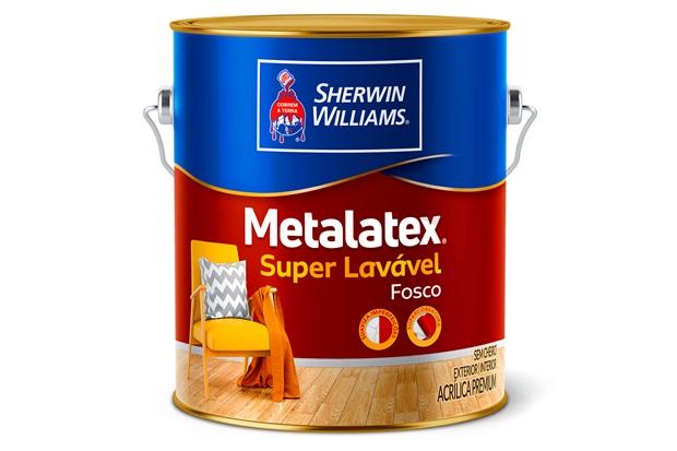 Tinta Acrílica Fosca Premium Metalatex Super Lavável Concreto 3,6 Litros - Sherwin Williams