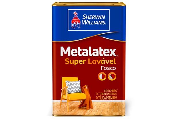 Tinta Acrílica Fosca Premium Metalatex Super Lavável Pérola 18 Litros - Sherwin Williams