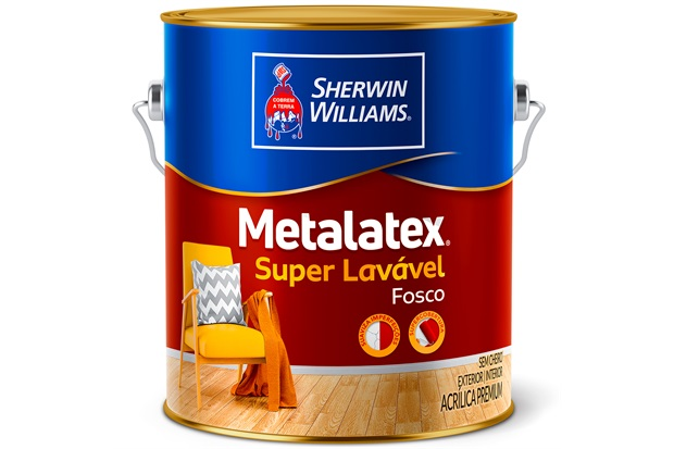 Tinta Acrílica Fosca Premium Metalatex Super Lavável Pérola 3,6 Litros - Sherwin Williams