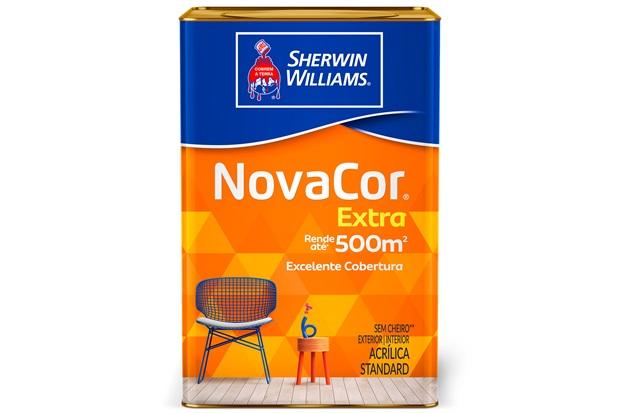 Tinta Acrílica Fosca Standard Novacor Extra Azul Índigo 18 Litros - Sherwin Williams