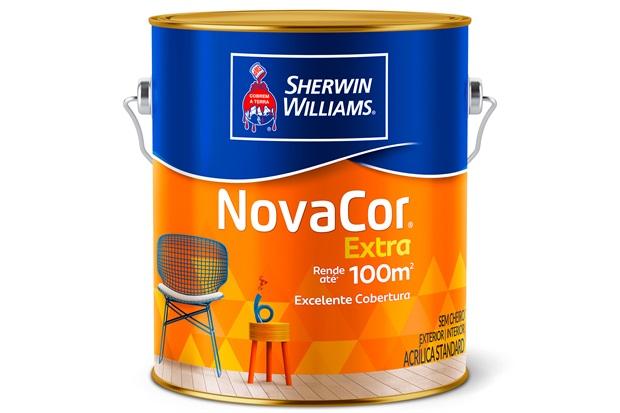Tinta Acrílica Fosca Standard Novacor Extra Azul Índigo 3,6 Litros - Sherwin Williams