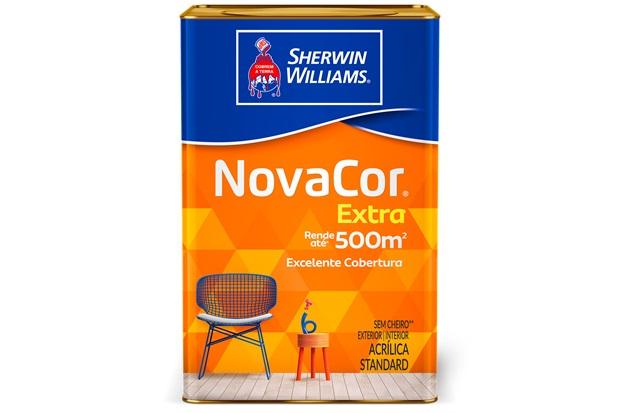 Tinta Acrílica Fosca Standard Novacor Extra Tangerina 18 Litros - Sherwin Williams