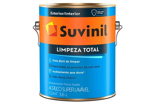 Tinta Acrílica Fosca Suave Limpeza Total Palha 3,6 Litros - Suvinil