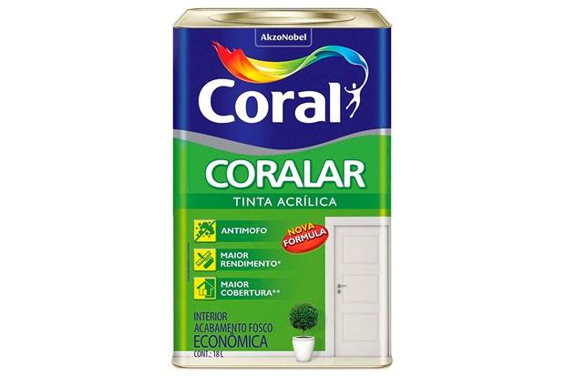 Tinta Acrílica Fosco Coralar Branco Neve 18 Litros - Coral