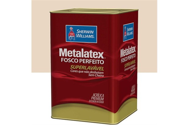 Tinta Acrílica Metalatex Fosco Perfeito Palha 18 Litros - Sherwin Williams