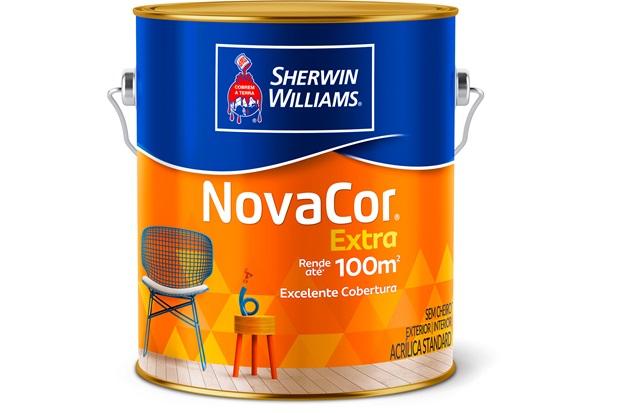 Tinta Acrílica Novacor Extra Standard Fosco Gelo 3,6 Litros - Sherwin Williams