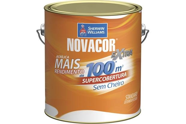 Tinta Acrílica Novacor Extra Standard Fosco Pérola 3,6 Litros - Sherwin Williams