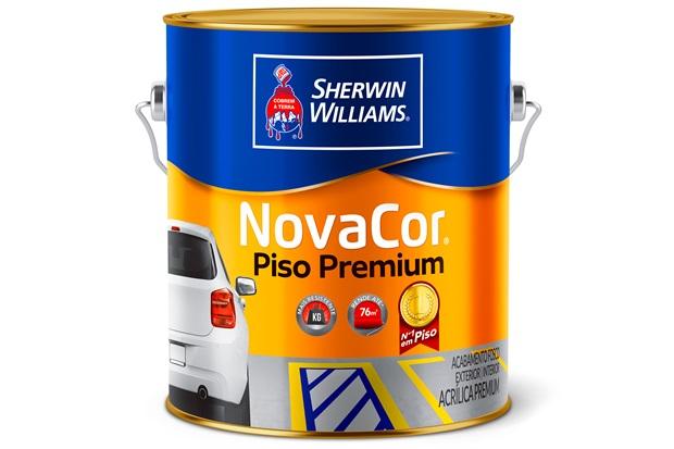 Tinta Acrílica Novacor Piso Mais Resistente Premium Cinza 3,6 Litros - Sherwin Williams