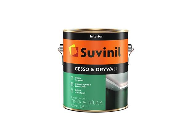 Tinta Acrílica para Gesso E Drywall Branca 3,6 Litros - Suvinil