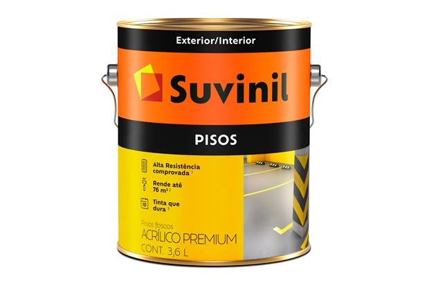 Tinta Acrílica para Piso Amarelo 3,6 Litros - Suvinil