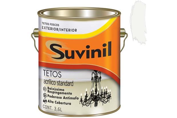 Tinta Acrílica para Tetos Branca 3,6 Litros - Suvinil