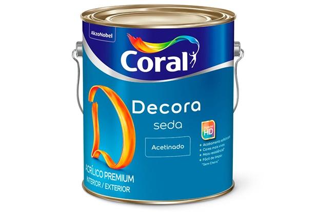 Tinta Acrílica Premium Acetinado Decora Seda Branco 3,6 Litros - Coral