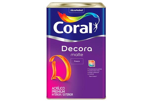 Tinta Acrílica Premium Fosca Decora Algodão Egípcio 18 Litros - Coral