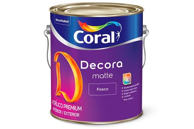 Tinta Acrílica Premium Fosca Decora Algodão Egípcio 3,6 Litros - Coral