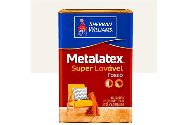 Tinta Acrílica Premium Fosca Metalatex Fosco Perfeito Branco 18 Litros - Sherwin Williams