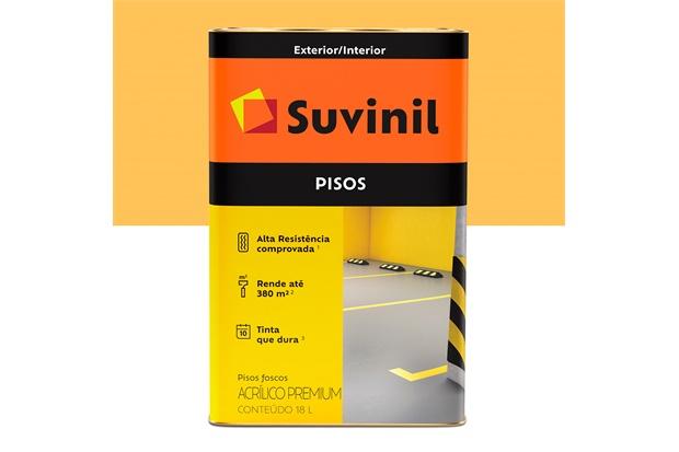 Tinta Acrílica Premium Fosca para Piso Amarelo 18 Litros - Suvinil