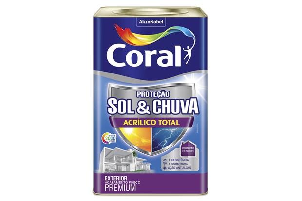 Tinta Acrílica Premium Fosca Proteção Sol & Chuva Bronze Lenda 18 Litros - Coral