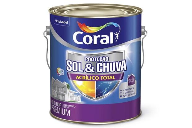 Tinta Acrílica Premium Fosca Proteção Sol & Chuva Trilha Ecológica 3,6 Litros - Coral