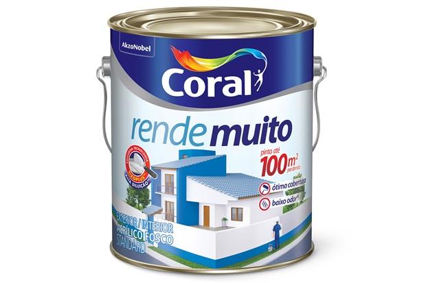 Tinta Acrílica Rende Muito Azul Sereno 3,6 Litros - Coral