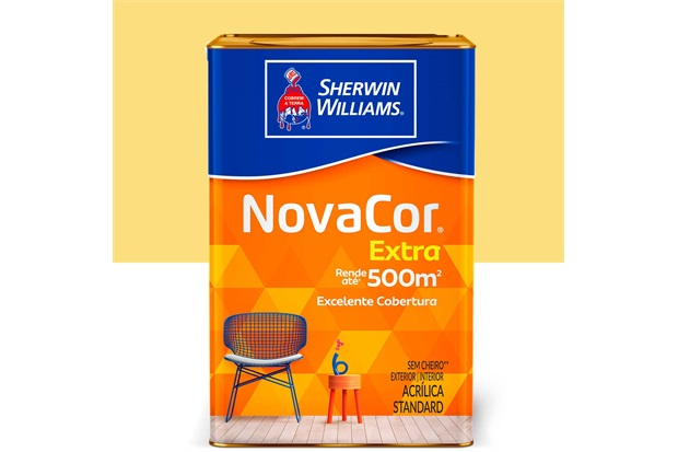 Tinta Acrílica Standard Fosca Novacor Extra Amarelo Canário 18 Litros - Sherwin Williams