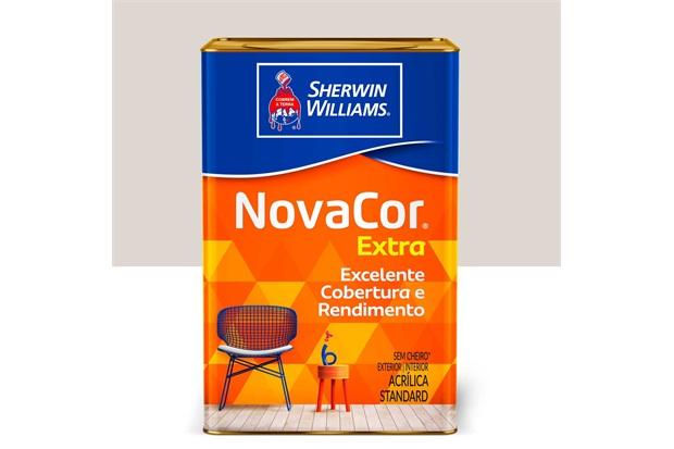 Tinta Acrílica Standard Fosca Novacor Extra Gelo 18 Litros - Sherwin Williams