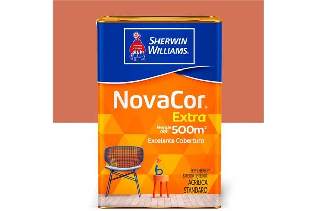 Tinta Acrílica Standard Fosca Novacor Extra Terracota Natural 18 Litros - Sherwin Williams