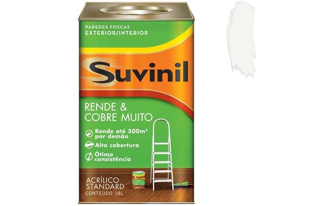 Tinta Acrílica Standard Rende & Cobre Muito Branco 18 Litros - Suvinil