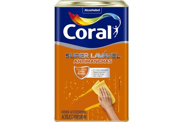 Tinta Acrílica Super Lavável Gelo 18 Litros - Coral