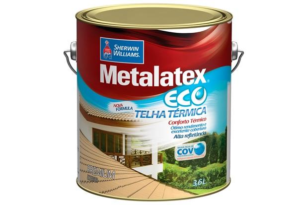 Tinta Brilhante Premium Metalex Eco Telha Térmica Vermelho Óxido 3,6 Litros - Sherwin Williams