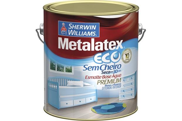 Tinta Eco Esmalte Acetinado Preta 3,6 Litros - Sherwin Williams