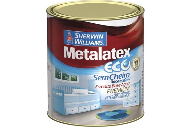 Tinta Eco Esmalte Acetinado Preta 900ml - Sherwin Williams