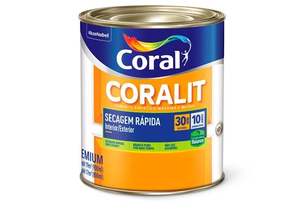 Tinta Esmalte Acetinada Branca 900ml  - Coral