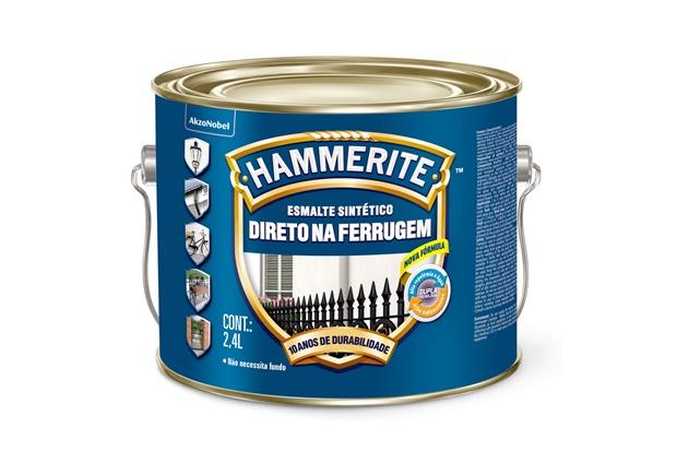 Tinta Esmalte Hammerite Brilhante Preto Anti-Ferrugem 2,4 Litros - Coral