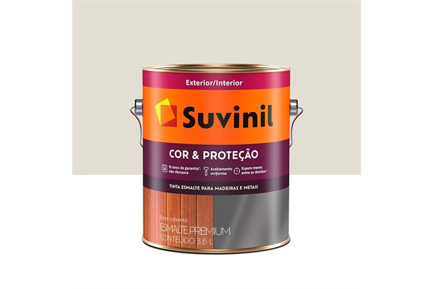 Tinta Esmalte Premium Acetinada Cor & Proteção Gelo 3,6 Litros - Suvinil